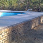 Fiberglass Pool Construction | Brick Retainer Walls | Custom Pool Builder | Statesboro, Georgia | Thompson Pools