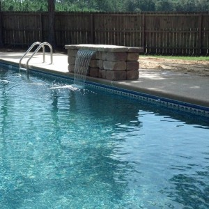 Pool Features | Water Feature | Spill-Over | Custom Pool Builder | Statesboro, Ga | Thompson Pools