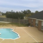 Pool Deck| Fiberglass Pool Installation| Patio| Fiberglass Pool| Statesboro, Georgia| Thompson Pools